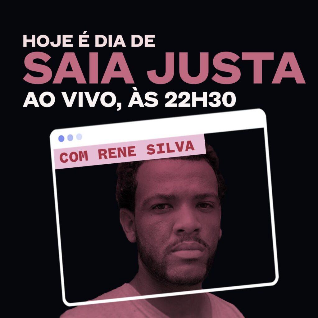 Rene Silva no programa Saia Justa