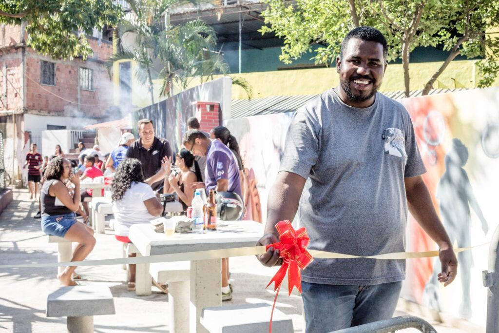 Presidente da associação dos moradores da Fazendinha, paulinho. Foto: Vilma Ribeiro