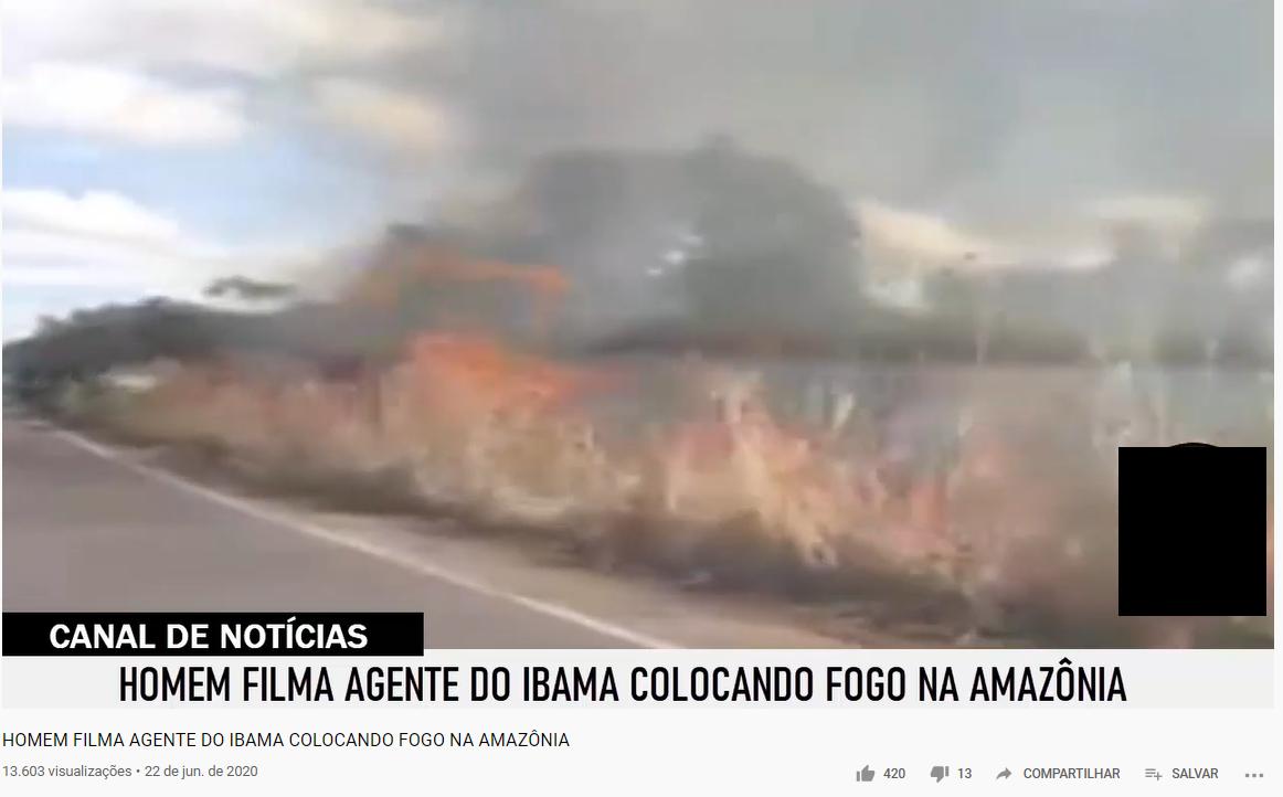 Ibama NÃO ateou foto na Amazônia incendiando aldeia indígena para derrubar governo Bolsonaro