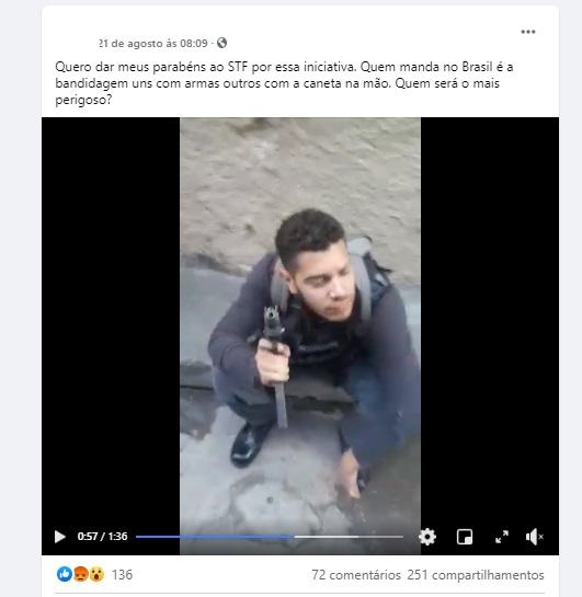 NÃO é verdade que vídeo mostra bandidos armados em comunidade do Rio