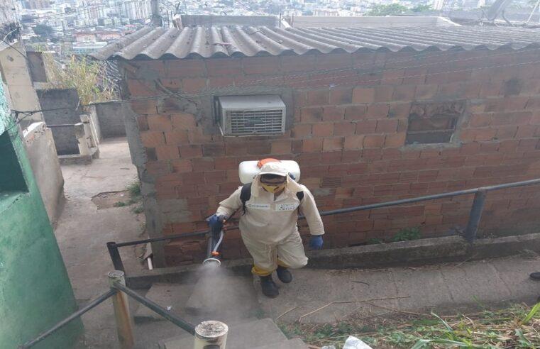 Cedae realiza sanitização em 12 favelas esta semana; Veja o calendário