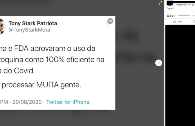FDA e China NÃO aprovaram o uso de cloroquina para cura da Covid-19