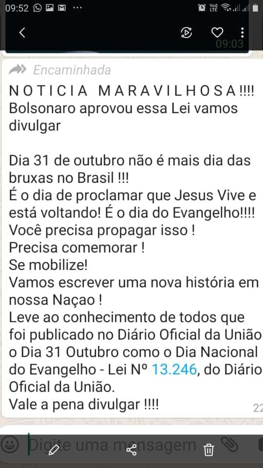Bolsonaro NÃO criou o Dia Nacional da Proclamação do Evangelho