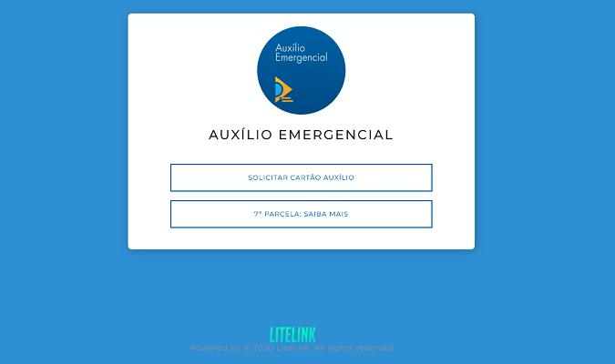 É FALSO o site que pede para  acessar sétima parcela do Auxílio Emergencial