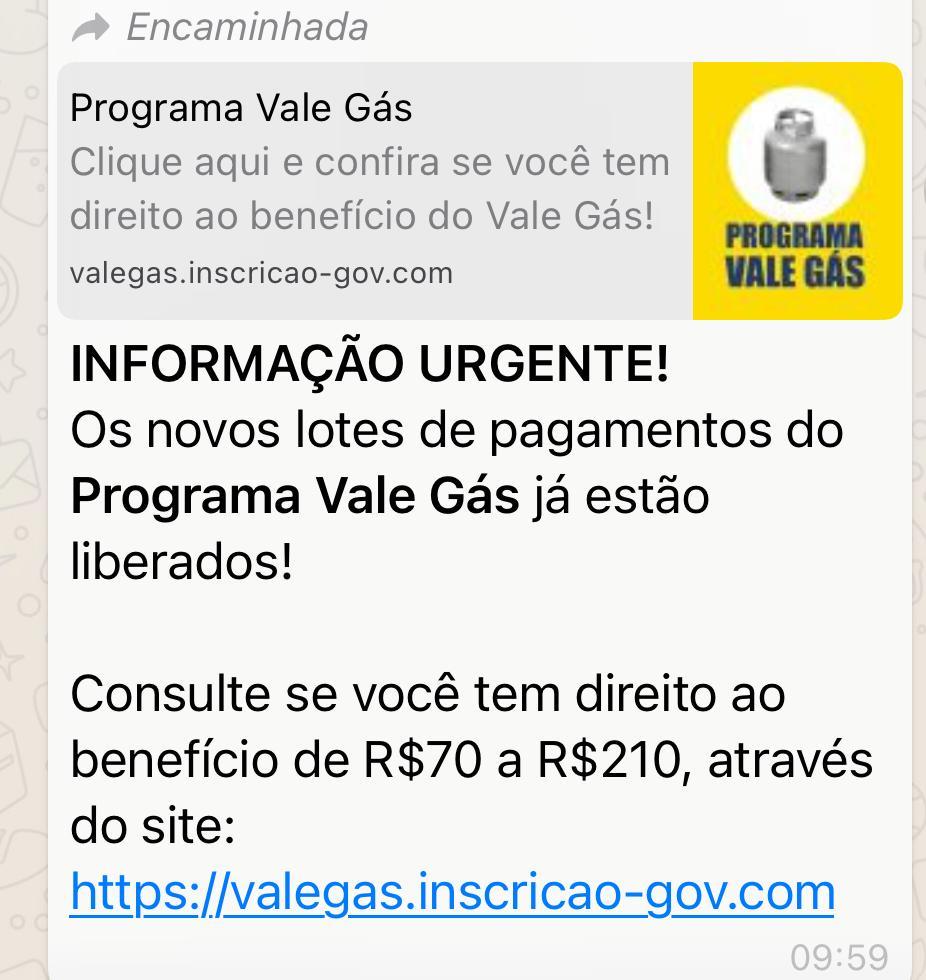 Novos lotes de pagamento do Vale Gás NÃO estão liberados, o programa NÃO existe
