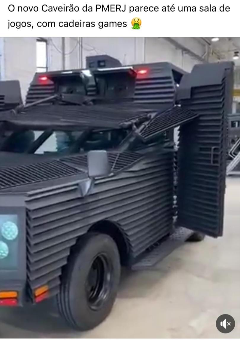 Polícia Militar NÃO tem novo modelo de caveirão