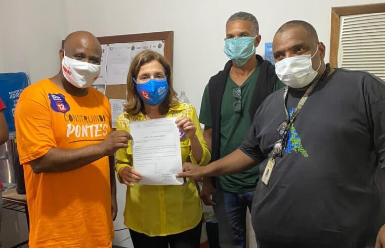 Candidata Martha Rocha visita o projeto 'Nós do Morro' no Vidigal