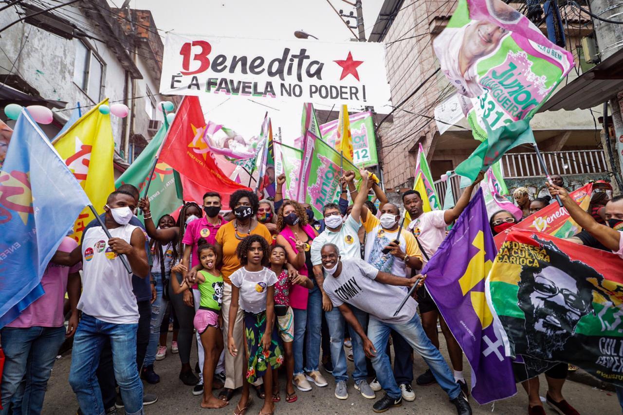 Benedita da Silva (PT) visita Morro da Mangueira e promete  apoio financeiro aos desfiles das Escolas de Samba