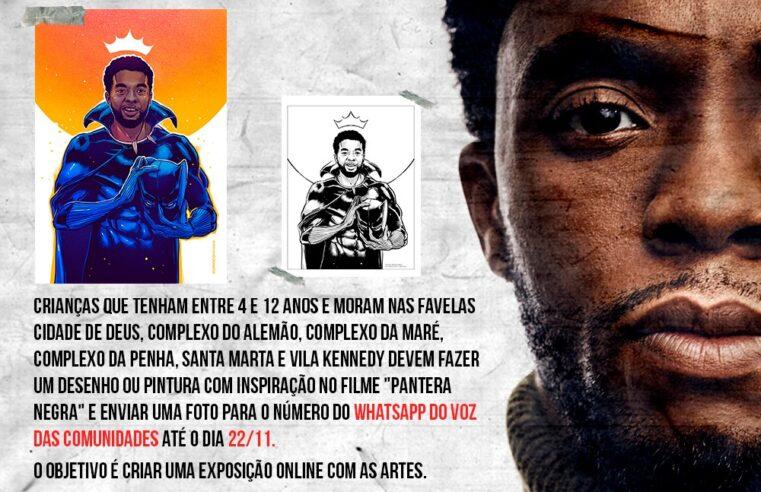 Crianças e adolescentes de quatro favelas ganharão pôster do Pantera Negra