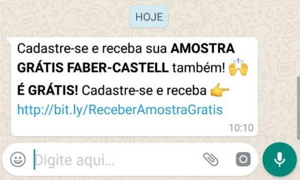 Faber-Castell NÃO está distribuindo amostras grátis de produtos