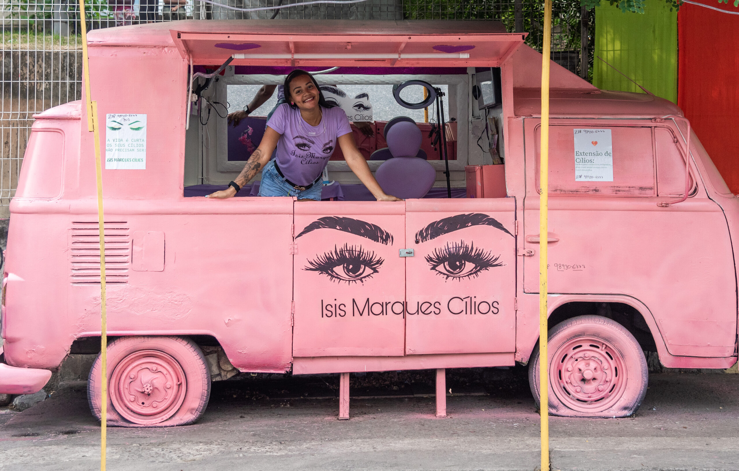 Estúdio móvel Isis Marques Cílios é a sensação do Complexo