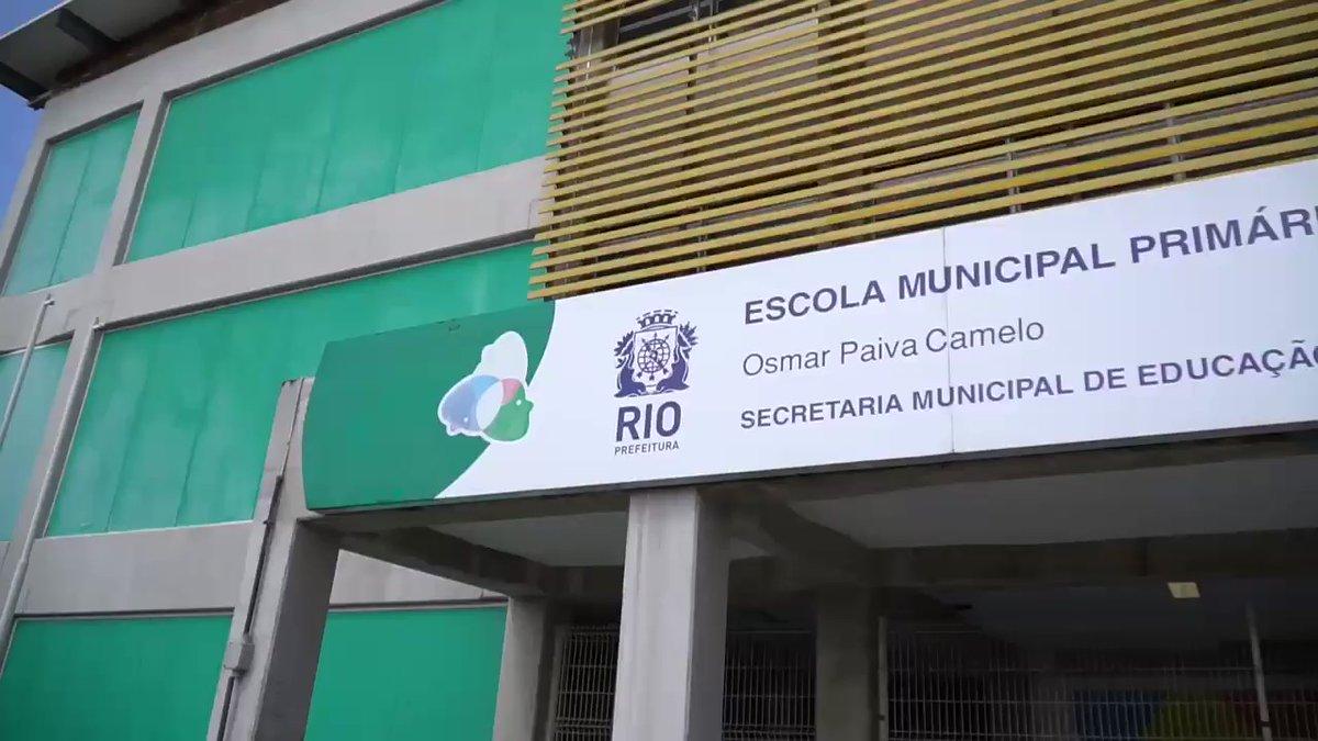 Novo Secretário Municipal de Educação visitou escola no Complexo da Maré