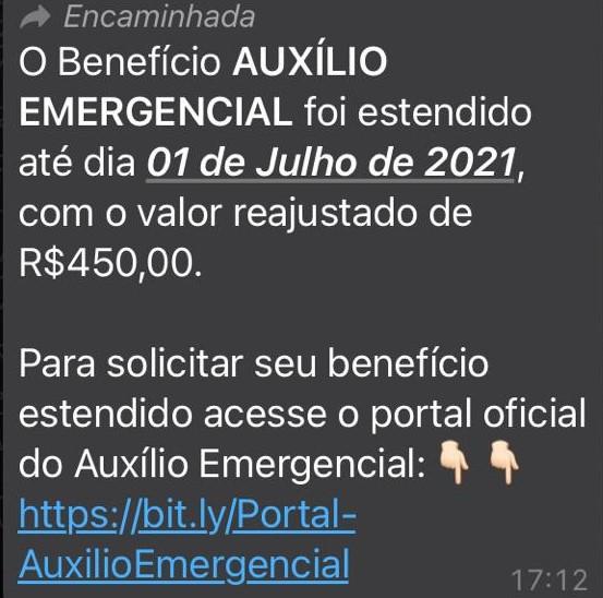 Auxílio Emergencial NÃO foi prorrogado até julho de 2021