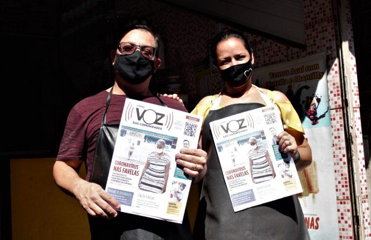 Jornal impresso do Voz das Comunidades retornou às mãos dos moradores nesta quinta-feira (21)