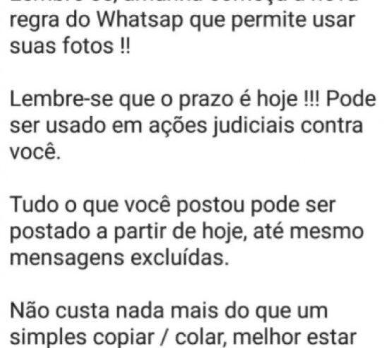 """""""Autodeclaração"""" não impede novos termos de privacidade do WhatsApp"""