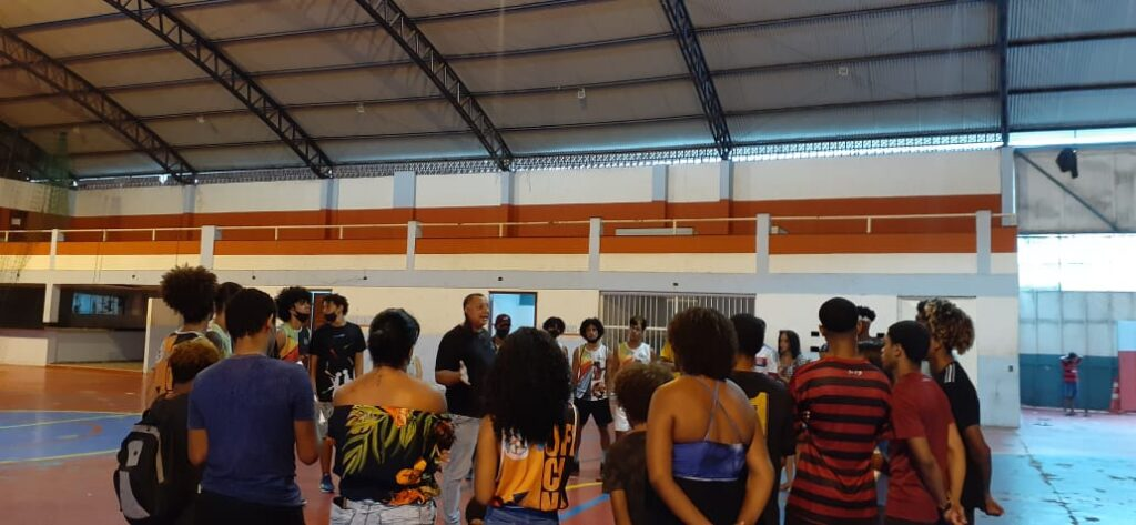 Ensaios do evento do Projeto Esperança na Favela que aconteceu na quadra da comunidade.