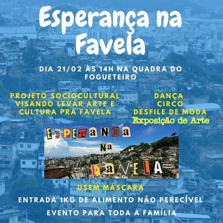Projeto Esperança na Favela / Banner do Evento