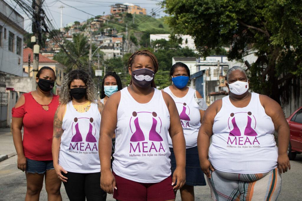 Monique Freitas (34), Débora França (40), Andrea Soares (42), Caroline do Valle (25), Camila Santos (36), Lucilene Oliveira (33) são madrinhas no MEAA.