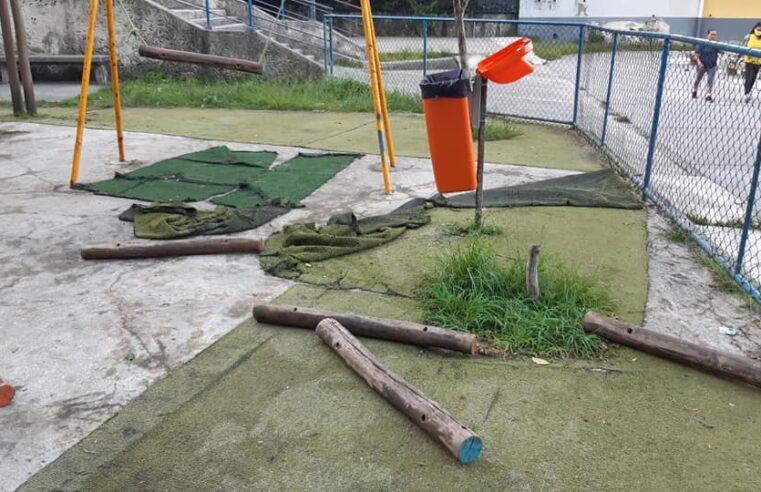 Moradores do Vidigal relatam abandono da Vila Olímpica na comunidade