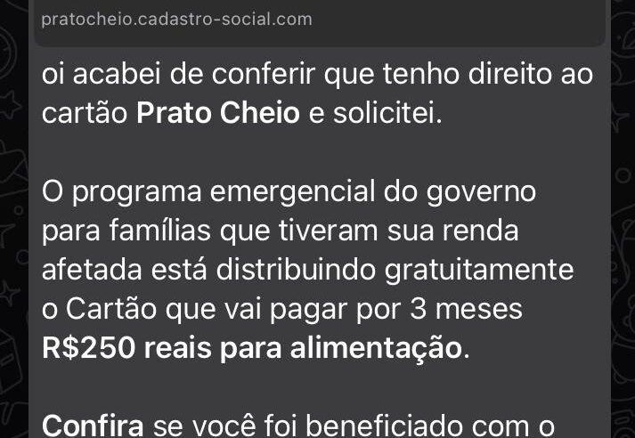 Prato Cheio e Governo Federal NÃO oferecem cestas básicas