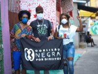 Créditos: Os ativistas Wesley Teixeira (esquerda), Douglas Belchior (meio) e Vanessa Vicente (direita
