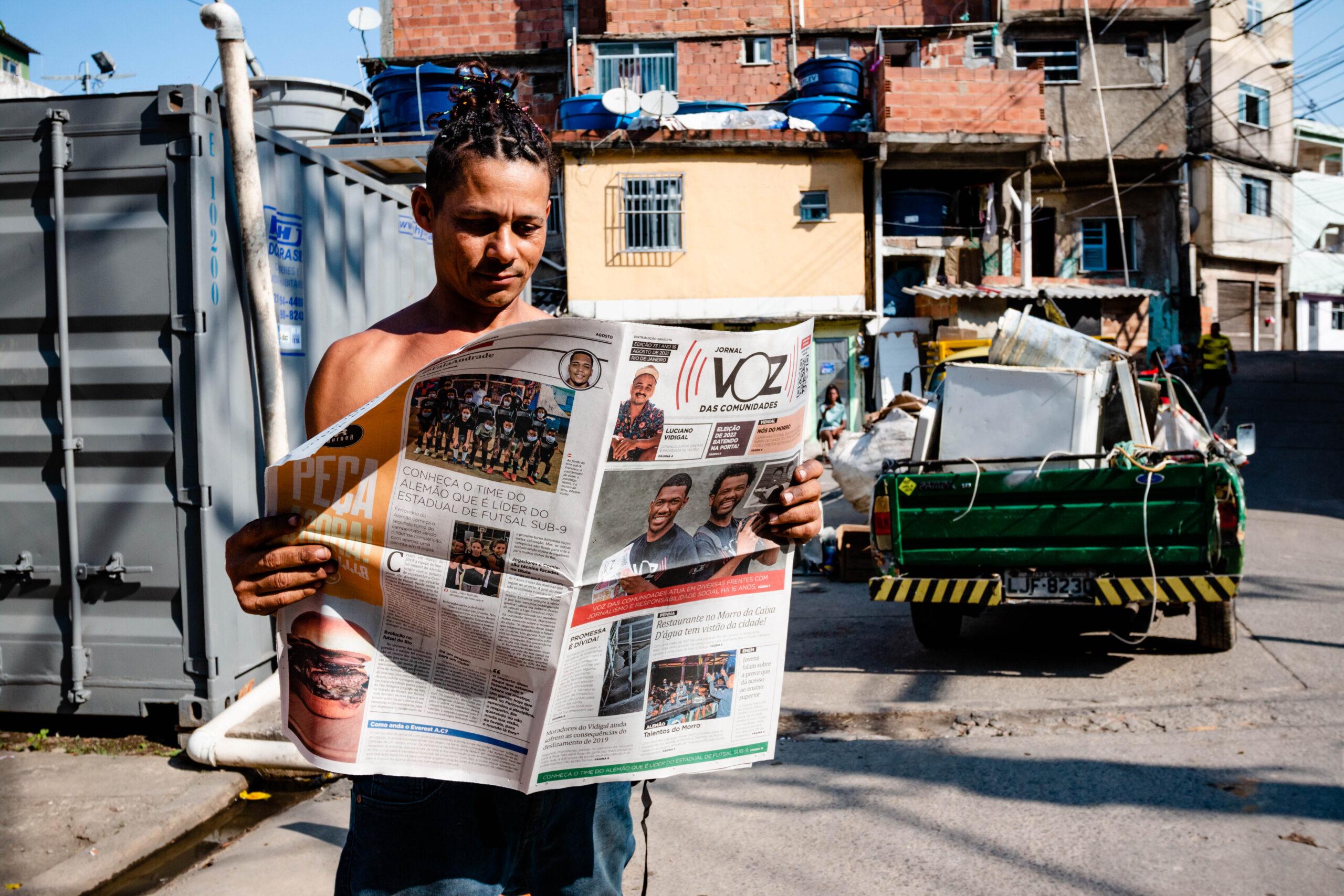 Em novo formato, jornal do Voz das Comunidades começa a circular no Vidigal