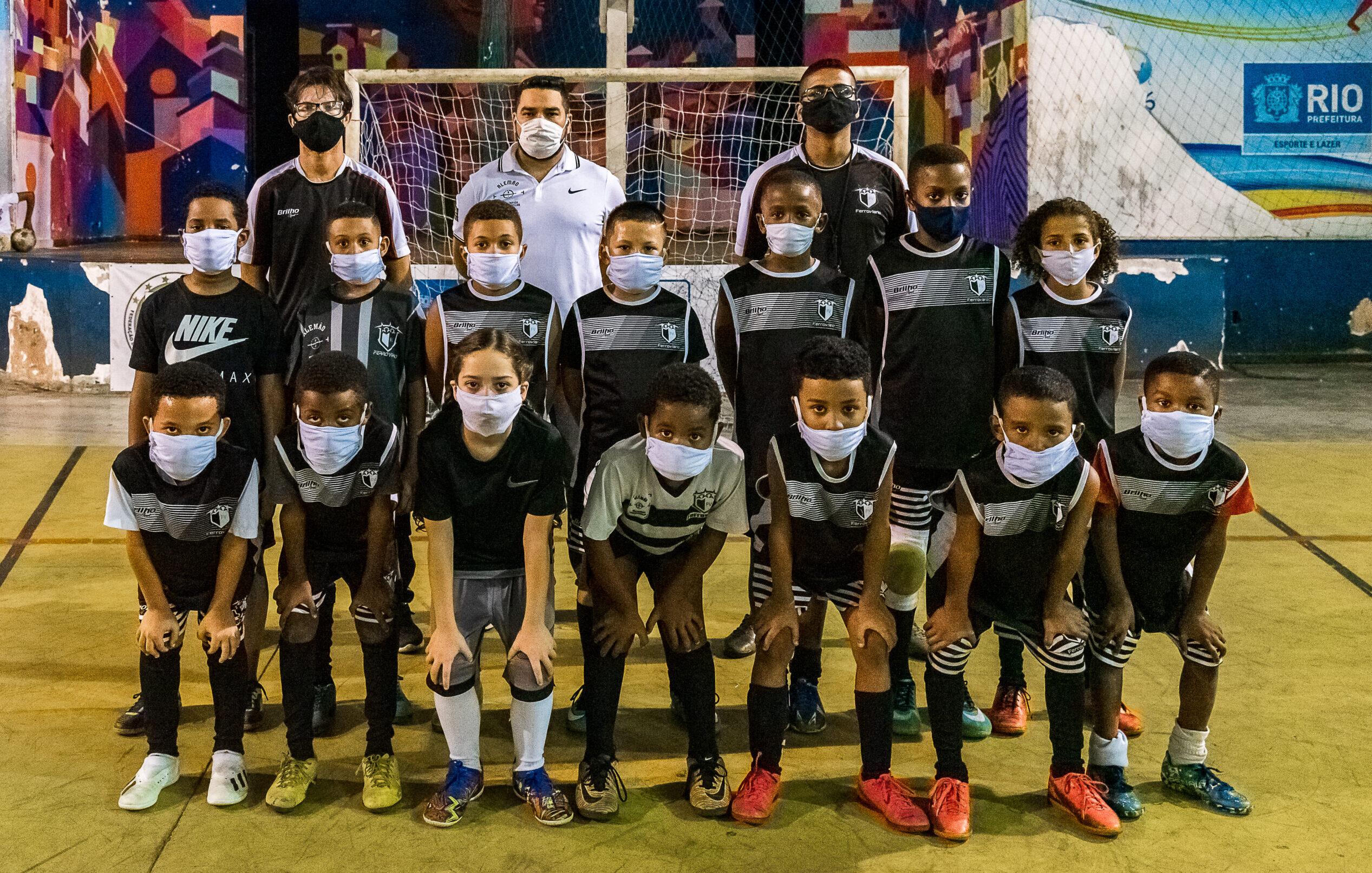 Destaque no futsal do Rio, time sub-9 do Ferroviário busca título carioca