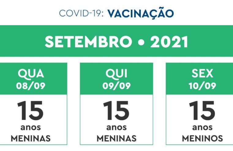 Veja o calendário de vacinação contra a Covid-19 da semana de 08 a 10 de setembro