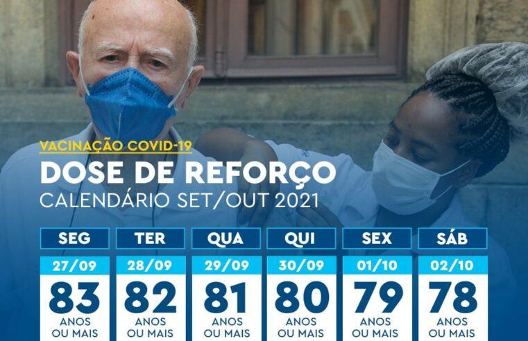Veja o calendário de vacinação contra a Covid-19 da semana de 27 de setembro a 02 de outubro