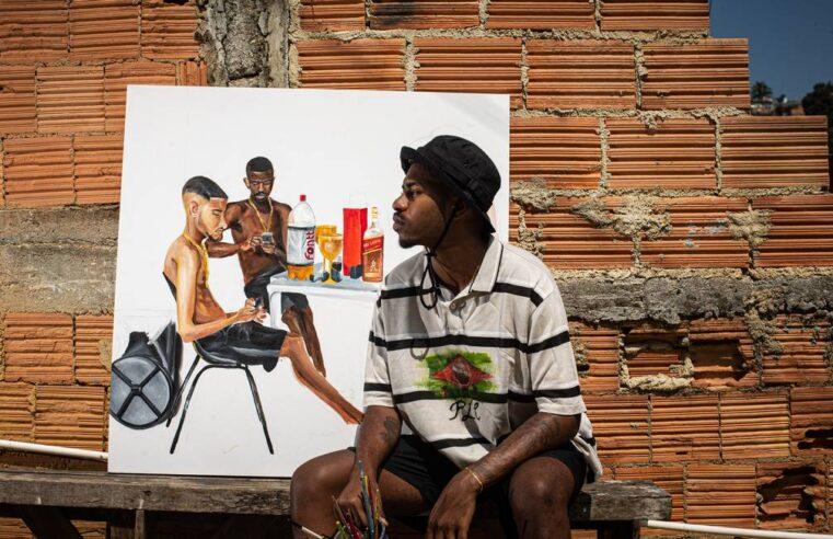 Cria do Chapadão, artista estreia exposição com todas as obras vendidas