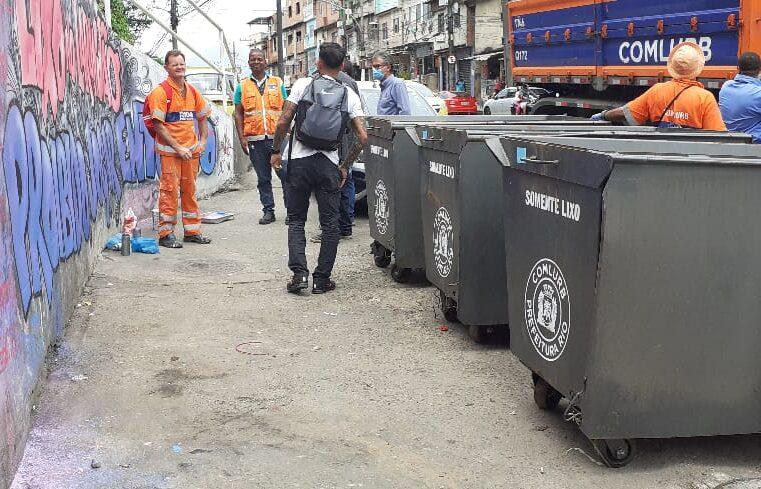 Alemão recebe instalações de 80 novos contêineres de lixo